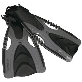 Ласты с открытой пяткой Dolvor F88 черные