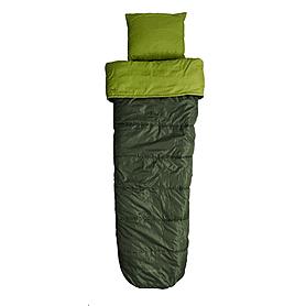 Мешок спальный (спальник) Caribee Cloud 9 Deep forest green левый