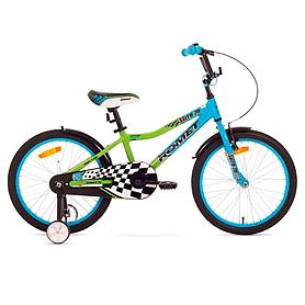 """Велосипед детский Romet Salto 20"""" 2015  синий с зеленым - рама 10"""""""