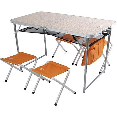 Стол раскладной + 4 стула Outventure OIE41852 оранжевый
