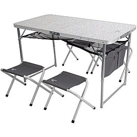 Стол раскладной + 4 стула Outventure OIE41892 серый - уцененный*