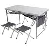 Стол раскладной + 4 стула Outventure OIE41892 серый - фото 1