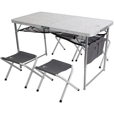 Стол раскладной + 4 стула Outventure OIE41892 серый