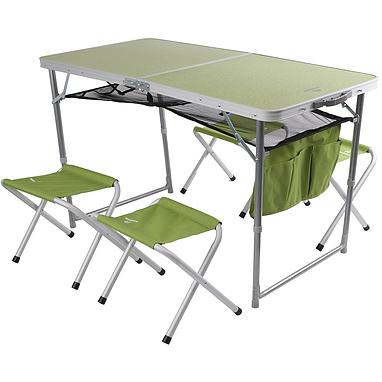 Стол раскладной + 4 стула Outventure OIE418G2 салатовый