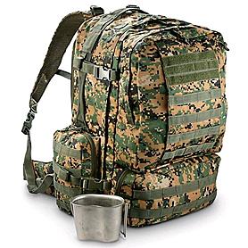 Фото 2 к товару Рюкзак тактический Red Rock Diplomat 52 Woodland Digital