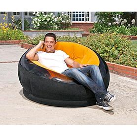 Фото 2 к товару Кресло надувное Intex 68582 (112х109х69 см) оранжевое