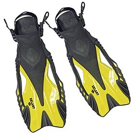 Ласты с открытой пяткой Dorfin ZP-445 желтые, размер - S-M(38-41)