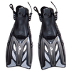 Ласты с открытой пяткой Dorfin ZP-441 черные, размер - L-XL(42-45) - фото 1