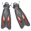 Ласты с открытой пяткой Dorfin ZP-453 красные, размер - L-XL(42-45) - фото 1