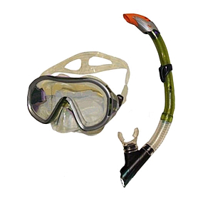 Фото 1 к товару Набор для плавания Dorfin (ZLT) (маска+трубка) желтый ZP-26542-SIL-GR
