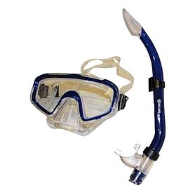 Фото 1 к товару Набор для плавания Dorfin (ZLT) (маска+трубка) синий ZP-26844-SIL-BL