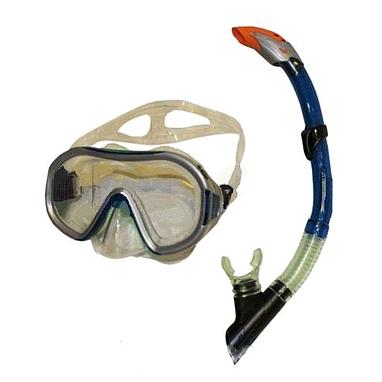 Набор для плавания Dorfin (ZLT) (маска+трубка) синий ZP-26542-PVC-BL