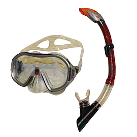 Набор для плавания Dorfin (ZLT) (маска+трубка) красный ZP-26542-PVC-R