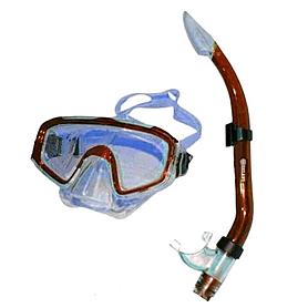Фото 1 к товару Набор для плавания Dorfin (ZLT) (маска+трубка) красный
