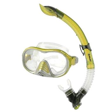 Набор для плавания подростковый Dorfin (ZLT) (маска+трубка) желтый