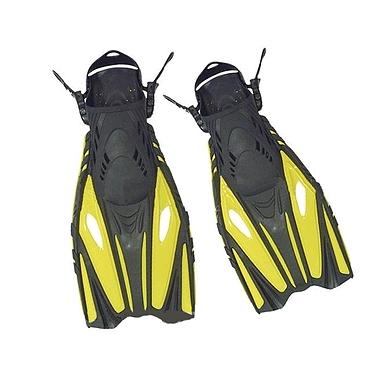 Ласты с открытой пяткой Dorfin (ZLT) желтые, размер - 38-41 PL-451-Y-38-41