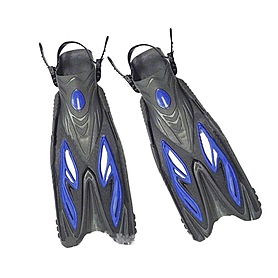 Фото 1 к товару Ласты с открытой пяткой Dorfin (ZLT) синие, размер 38-41