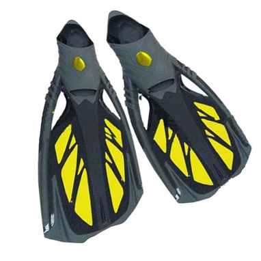 Ласты с закрытой пяткой Dorfin (ZLT) желтые, размер - 42-43 ZP-444-L-Y