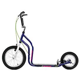 Самокат двухколесный Yedoo City New фиолетово-белый