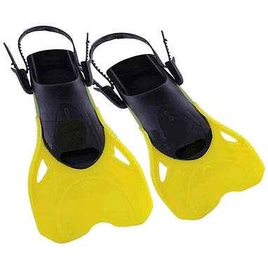Ласты с открытой пяткой Dorfin PL-480 желтые, размер - M-L(38-43)