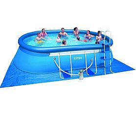 Фото 1 к товару Бассейн каркасный Intex 54932 (549х305х107 см) с фильтрующим насосом и аксессуарами