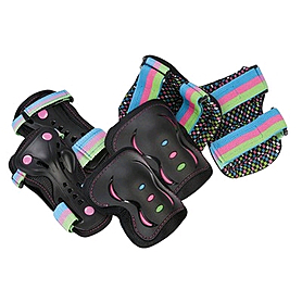 Защита для катания детская (комплект) Stateside Skates SFR диско, размер - L