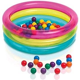 Бассейн детский надувной Intex 48674 (85х25 см) с шариками