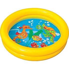 Бассейн детский надувной Веселые рыбки Intex 59409 (61х15 см)