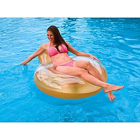 Фото 2 к товару Кресло надувное пляжное Intex 58889 (137х122 см) оранжевое