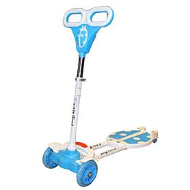 """Трайк-самокат четырехколесный Scooter """"Божья коровка"""" (120 мм) для детей голубой"""