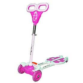 """Трайк-самокат четырехколесный Scooter """"Божья коровка"""" (120 мм) для детей розовый"""