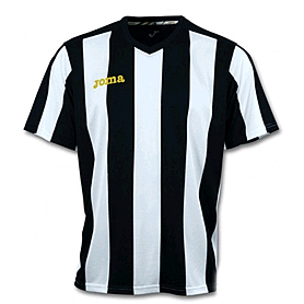 Фото 1 к товару Футболка футбольная Joma Pisa 10 бело-черная