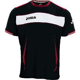 Футболка футбольная Joma Terra черная