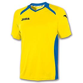 Футболка футбольная Joma Champion II желто-синяя - XS-S