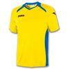 Футболка футбольная Joma Champion II желто-синяя - фото 1