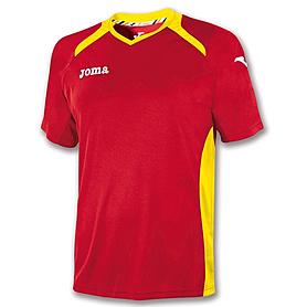 Футболка футбольная Joma Champion II красно-желтая
