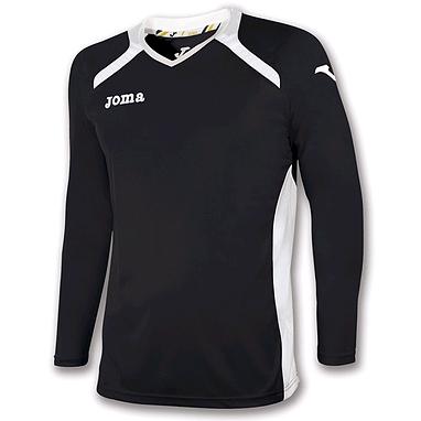 Футболка футбольная с длинным рукавом Joma Champion II черная
