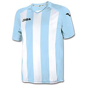 Футболка футбольная Joma Pisa 12 бело-голубая