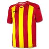 Футболка футбольная Joma Pisa 12 красно-желтая - фото 1