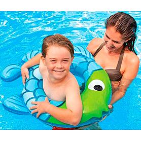 Фото 2 к товару Круг надувной Intex 59222 зелено-голубой (77x76 см)