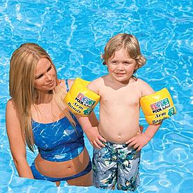 Фото 2 к товару Нарукавники для плавания Intex (20х15 см) желтые