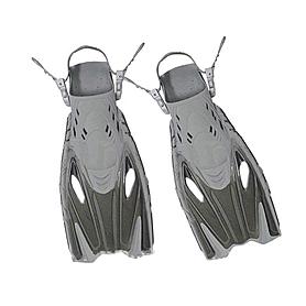 Фото 1 к товару Ласты с открытой пяткой Dorfin (ZLT) серые, размер - 32-37