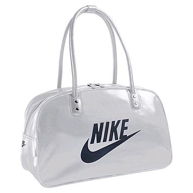 Сумка Nike Heritage Si Shoulder Club серая с черным