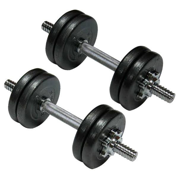 Гантели наборные стальные Newt Home 2 шт по 10 кг - Фото №2