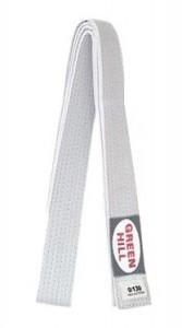 Пояс для кимоно Green Hill Olympic белый - фото 1