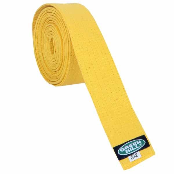 Пояс для кимоно Green Hill Olympic желтый - фото 1