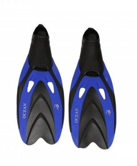 Ласты с закрытой пяткой Dolvor F65 синие - фото 1