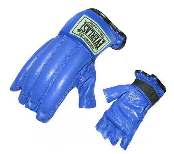 Шингарты (перчатки без пальцев) Everlast синие - фото 1