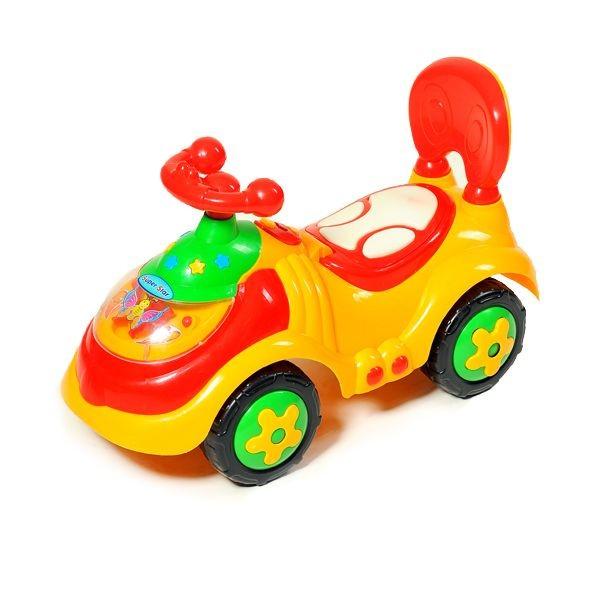 Каталка-толокар машина Baby Tilly 912 желтый - фото 1