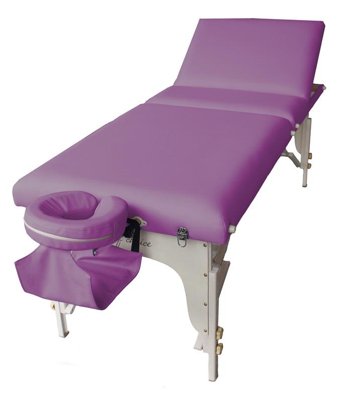 Фото 1 к товару Стол массажный буковый Bel Art of Choice фиолетовый
